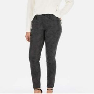 EXPRESS Faux Suede Dark Grey Skinny Jeans Pants Ankle Leggings Size 18R NEW